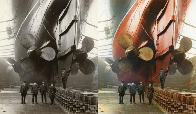 Корабельный док в Ливерпуле, 1909 г.