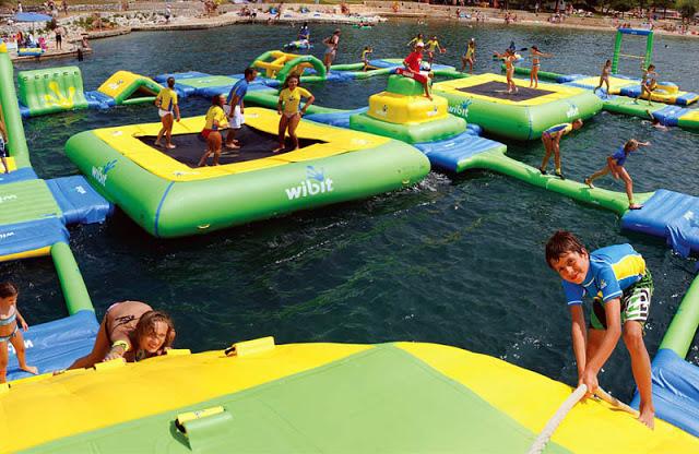 надувные аквапарки 4