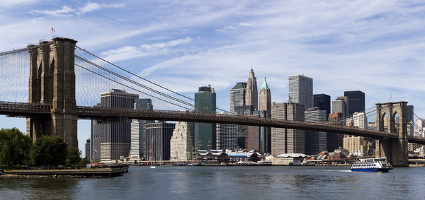 NEW YORK-BROOKLYN BRIDGE-SKYLINE NY