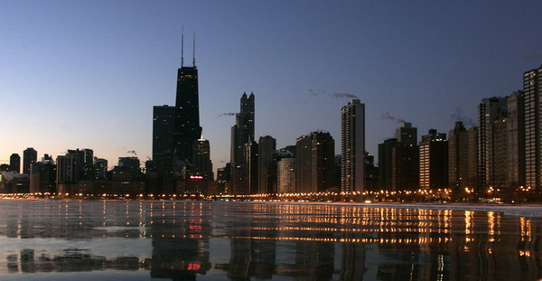 US-WEATHER-CHICAGO SKYLINE
