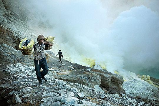 Работа в кратере Ljen