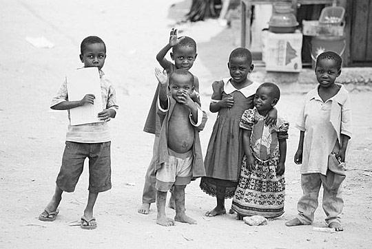 Счастливые дети Африки