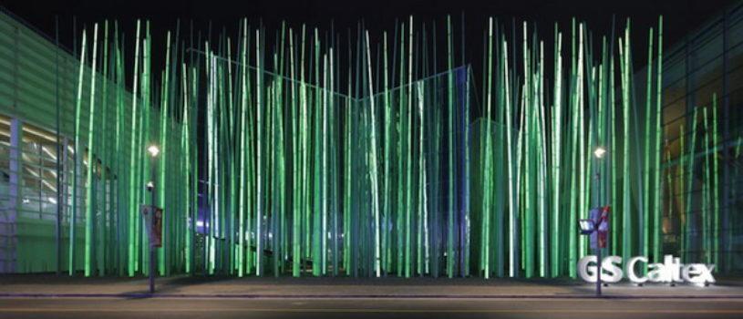 Светодиодные поля в Корее.