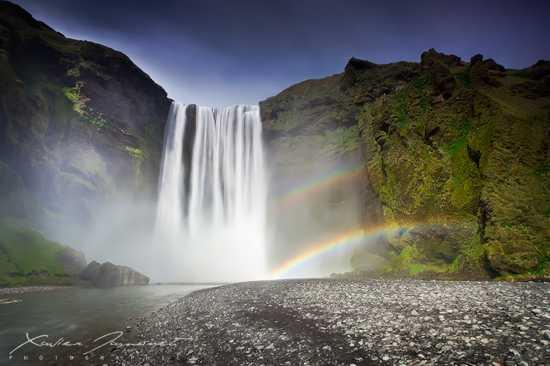 Skogafoss Falls By Xavierjamonet