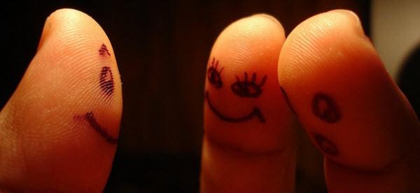 conversation of 3 fingers