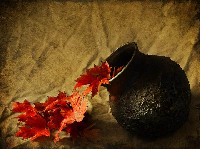 Натюрморт с листьями