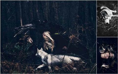 Фантазии женщины бегущей с волками в лесу