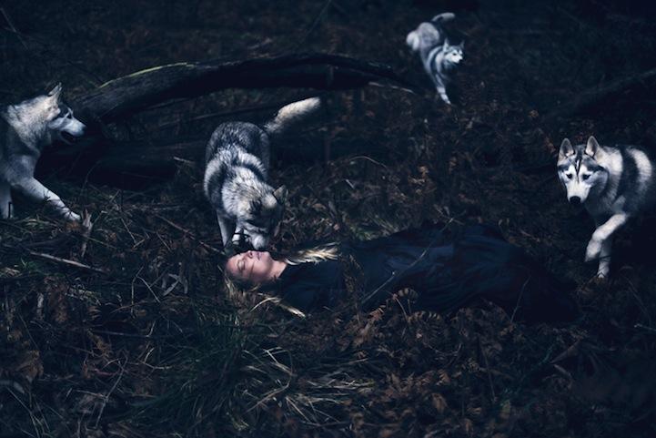 Фантазии женщины бегущей с волками в лесу 10