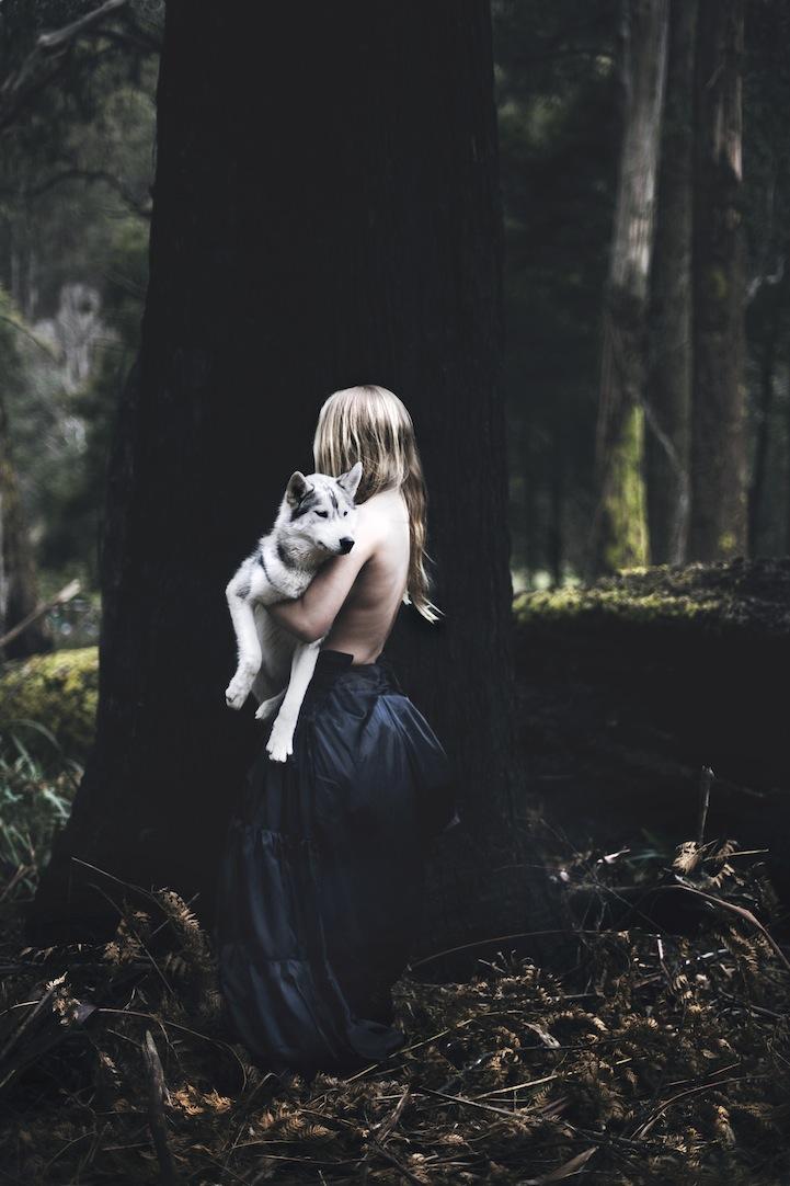Фантазии женщины бегущей с волками в лесу 13