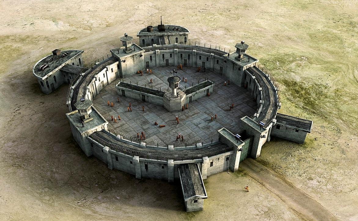 Тюрьма по виду напоминающая будильник