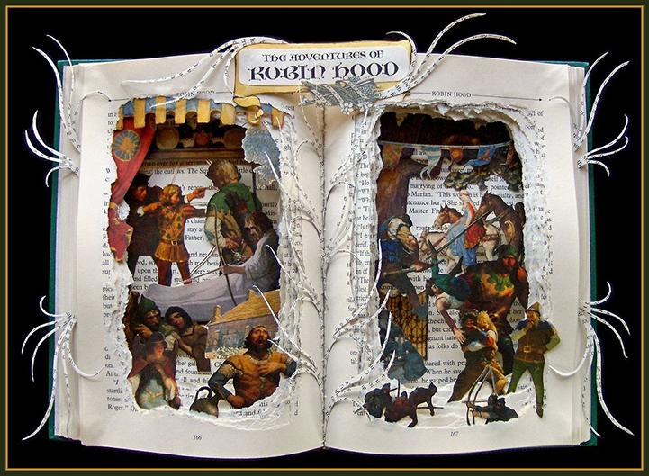 Книжная скульптура Робин Гуд