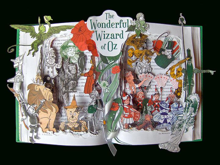 Книжная скульптура Волшебник страны Оз