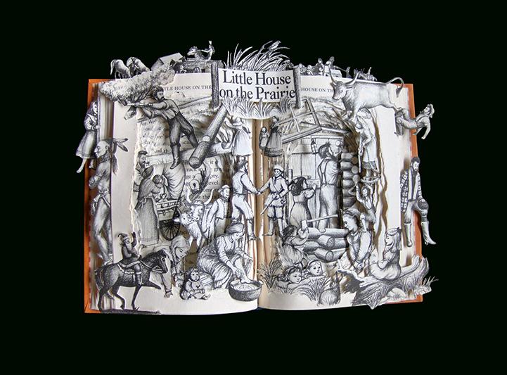 Книжная скульптура Маленький домик в прериях
