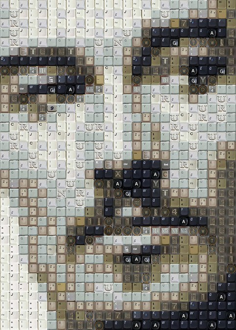 Портреты из клавиш компьютерной клавиатуры