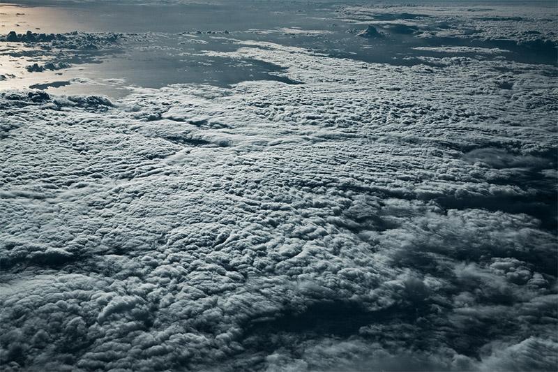 Море облаков над Средиземным и Карибским морях  на фотографиях Якоба Вагнера