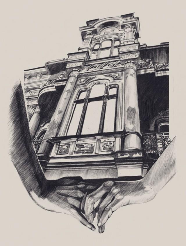 Рисунки архитектуры Даши Плиски