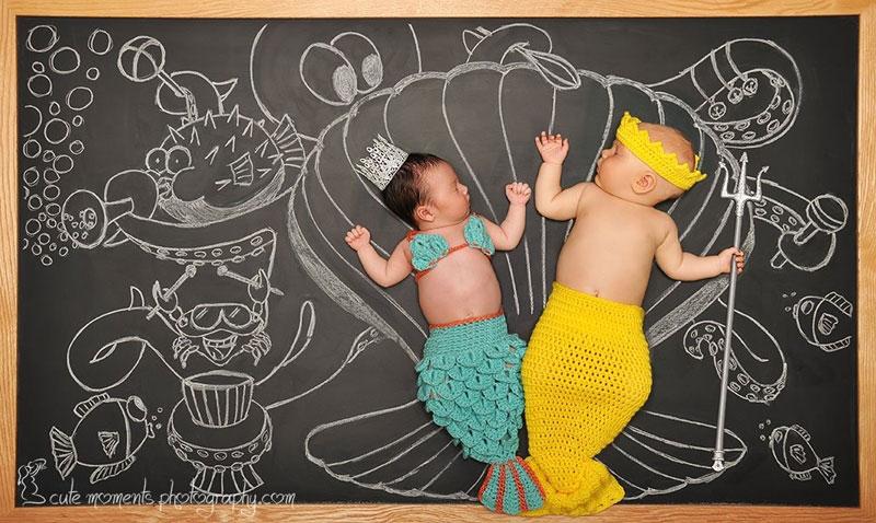 Сны новорожденого малыша на доске приключений