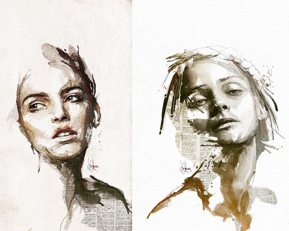Цифровые портреты Флориан Николл 5