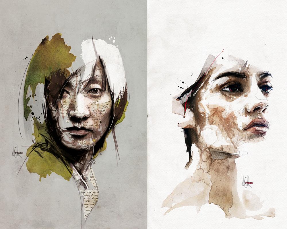 Цифровые портреты Флориан Николл 6