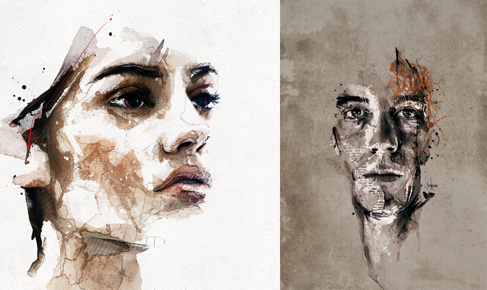 Цифровые портреты Флориан Николл 7