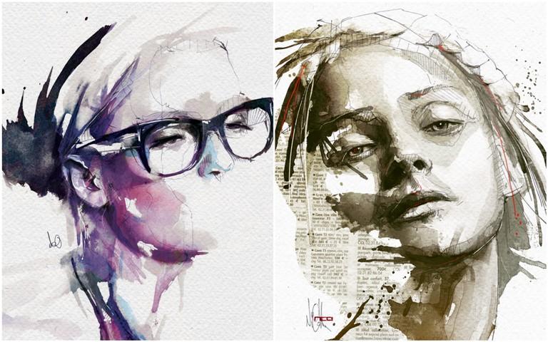 Цифровые портреты Флориан Николл