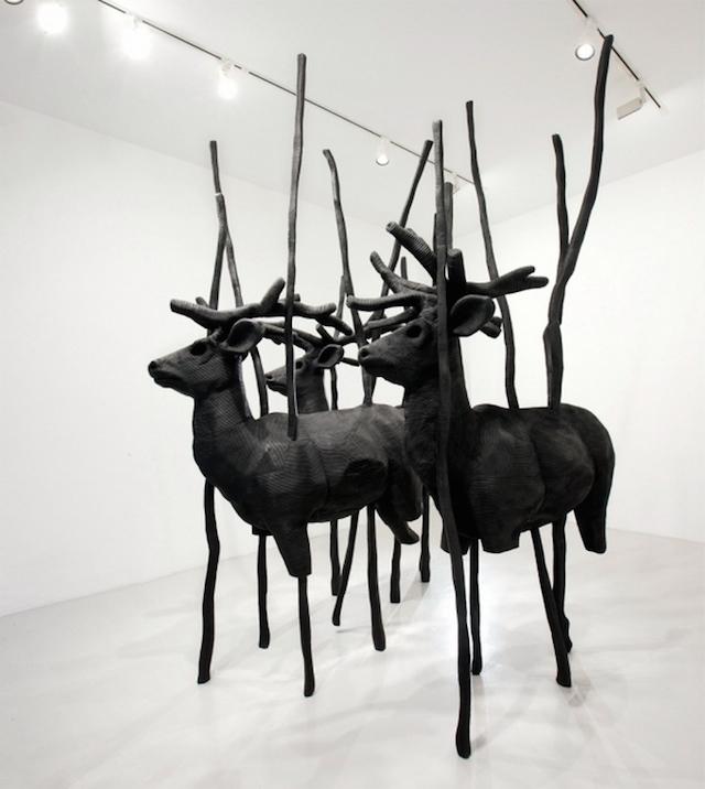 Концептуальные черные скульптуры Paolo Grassino13