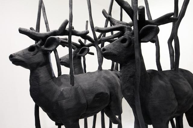 Концептуальные черные скульптуры Paolo Grassino14