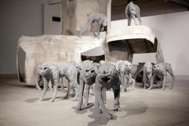 Концептуальные черные скульптуры Paolo Grassino15