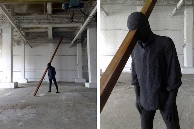 Концептуальные черные скульптуры Paolo Grassino3