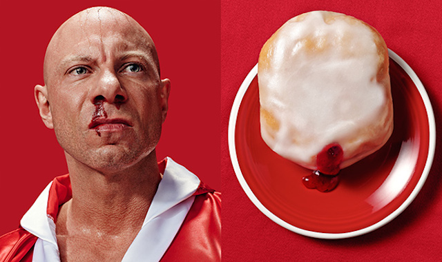 Схожесть человека и пончика на фотографиях Brandon Voges5