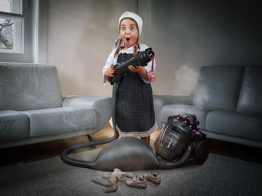 Сумасшедшие детские фото манипуляции John Wilhelm10
