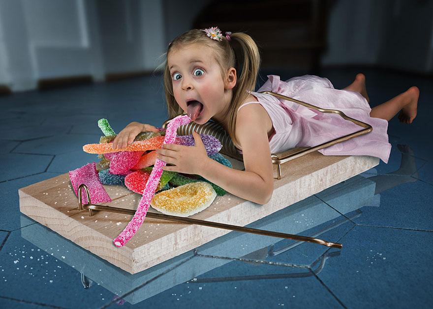 Сумасшедшие детские фото манипуляции John Wilhelm13