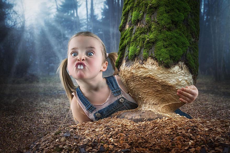 Сумасшедшие детские фото манипуляции John Wilhelm16