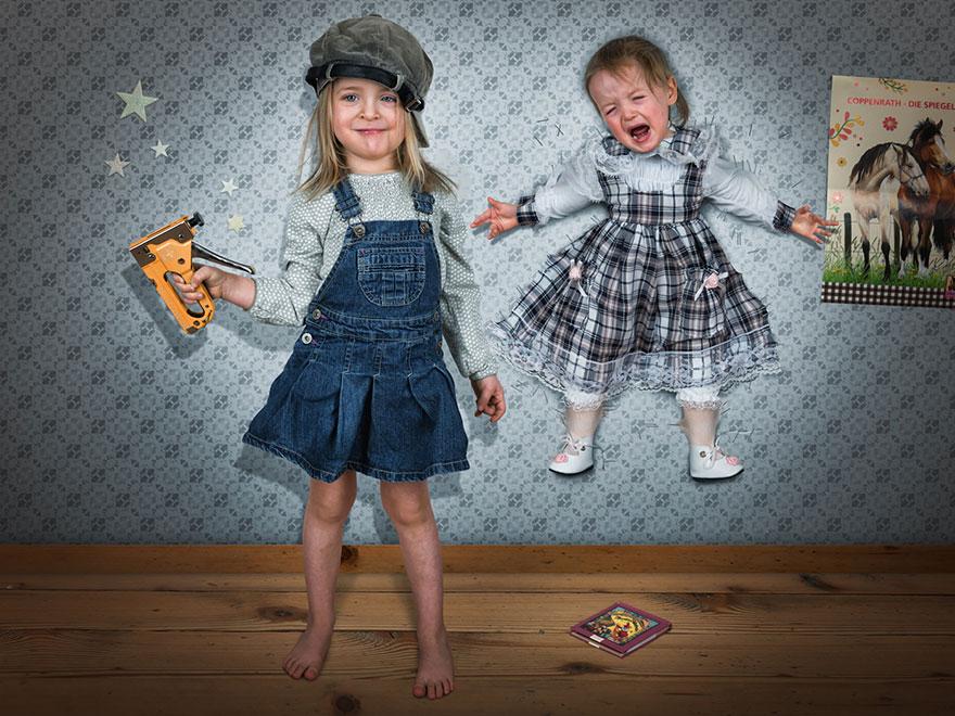 Сумасшедшие детские фото манипуляции John Wilhelm17