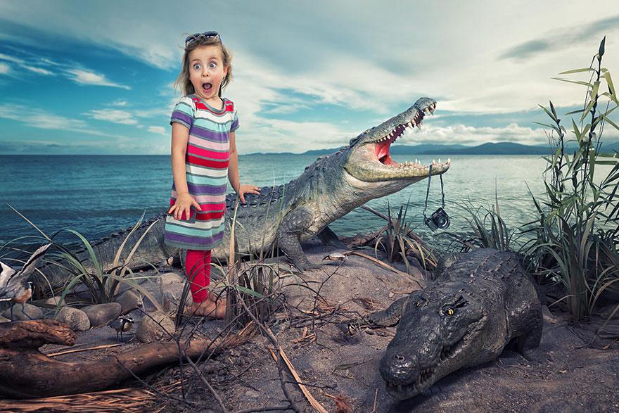 Сумасшедшие детские фото манипуляции John Wilhelm2