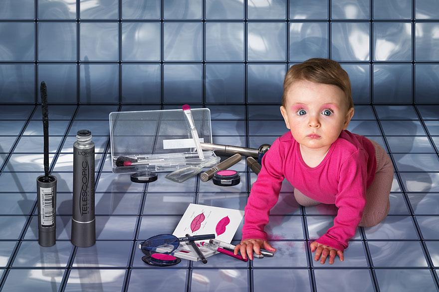 Сумасшедшие детские фото манипуляции John Wilhelm20