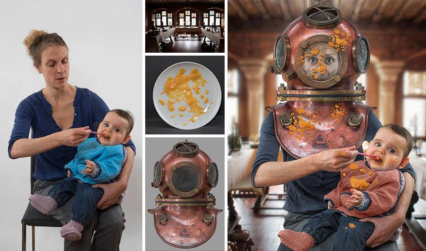 Сумасшедшие детские фото манипуляции John Wilhelm21