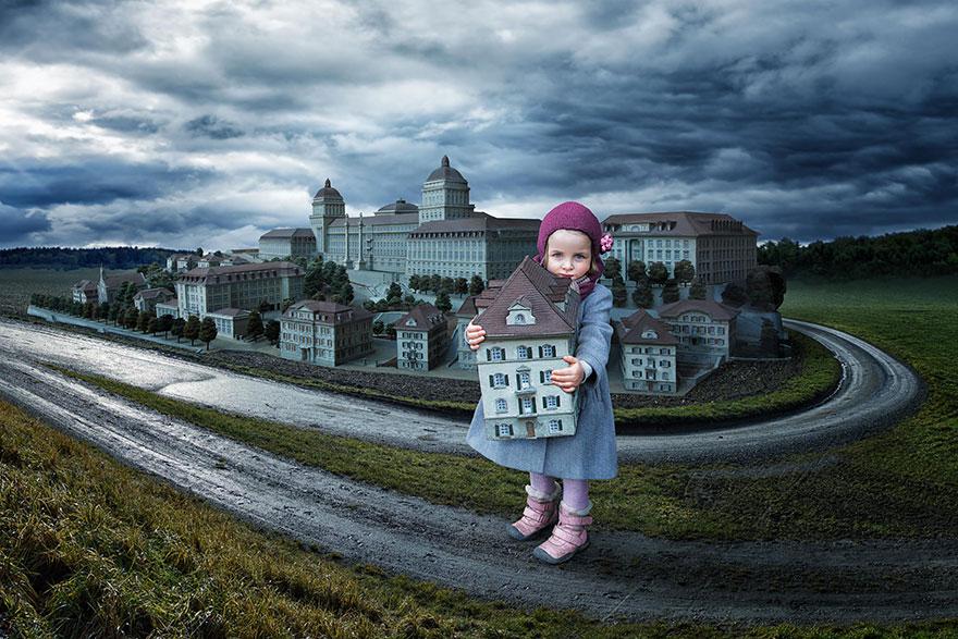 Сумасшедшие детские фото манипуляции John Wilhelm3