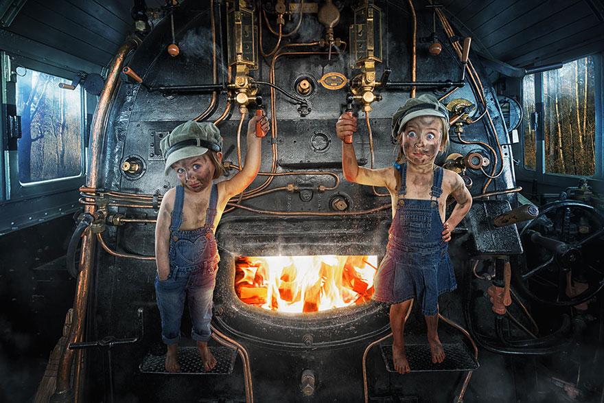 Сумасшедшие детские фото манипуляции John Wilhelm4