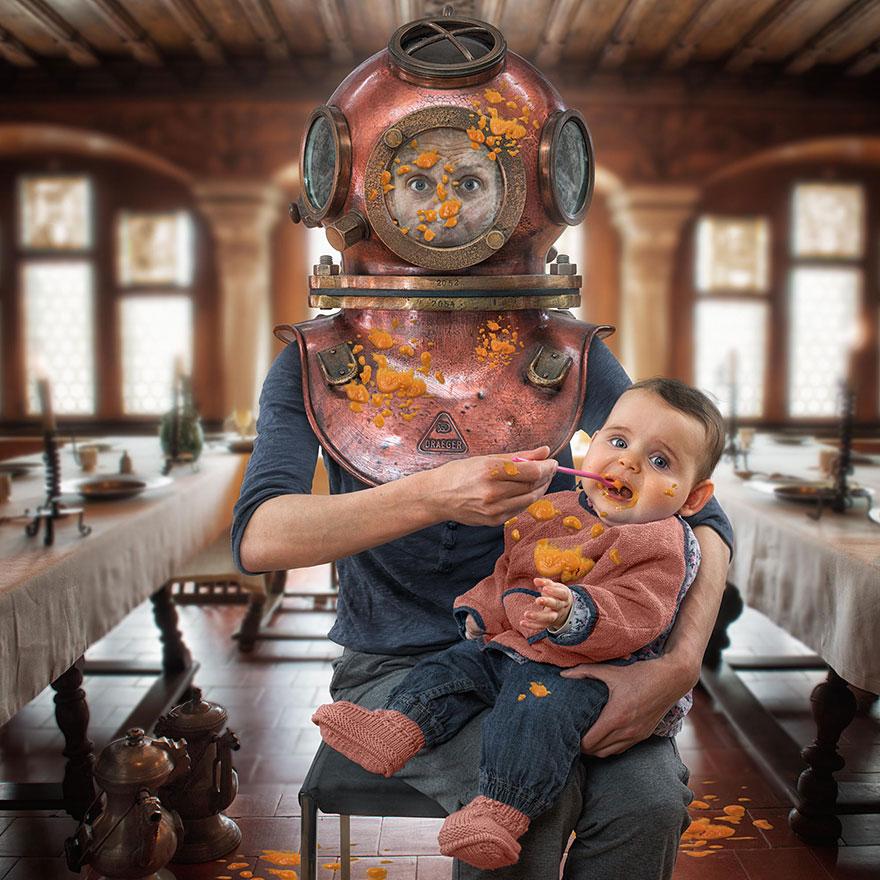 Сумасшедшие детские фото манипуляции John Wilhelm7