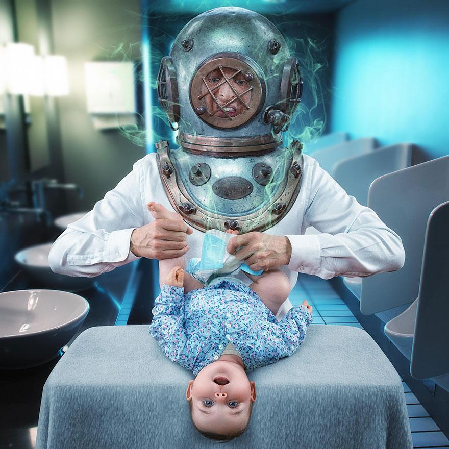 Сумасшедшие детские фото манипуляции John Wilhelm8