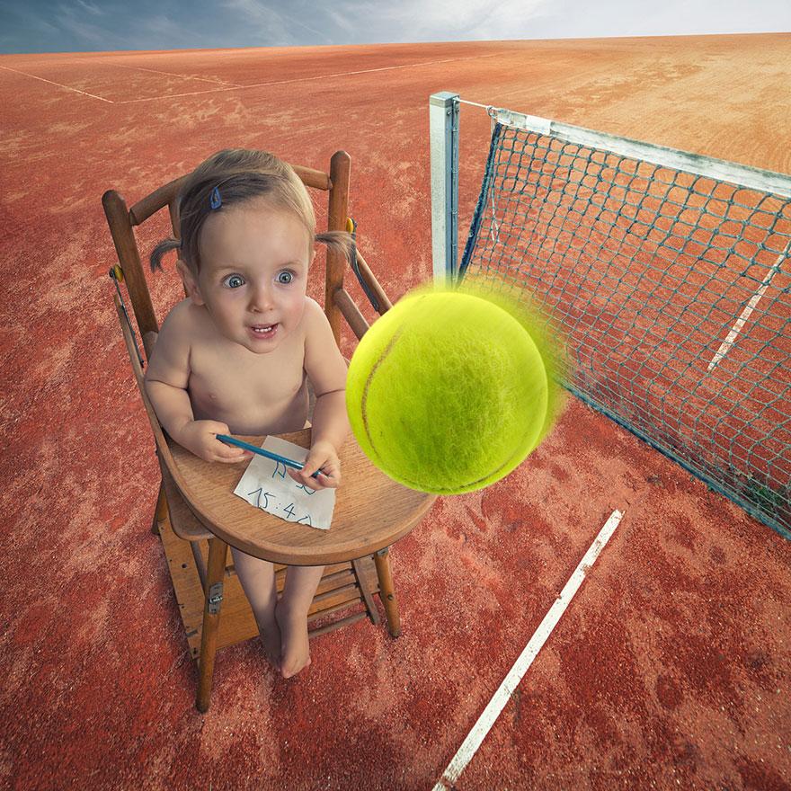 Сумасшедшие детские фото манипуляции John Wilhelm9