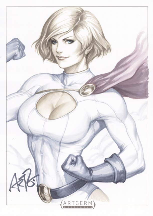 Супергероини в стиле пин-ап художника Artgerm4