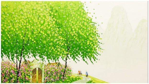 Яркие пейзажи Вьетнама на картинах Phan Thu Trang