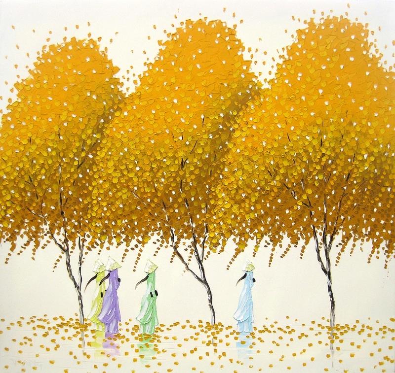 Яркие пейзажи Вьетнама на картинах Phan Thu Trang1