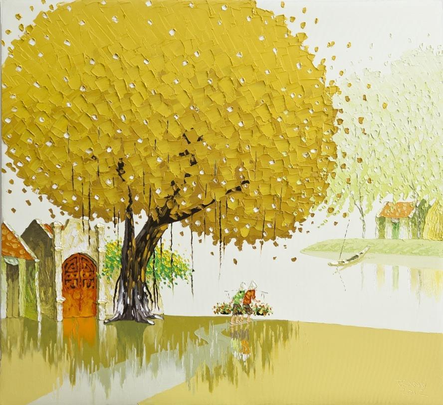 Яркие пейзажи Вьетнама на картинах Phan Thu Trang10