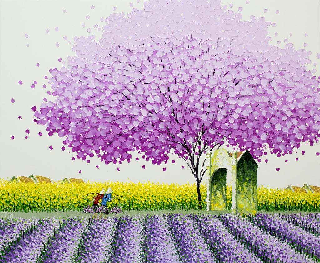 Яркие пейзажи Вьетнама на картинах Phan Thu Trang2