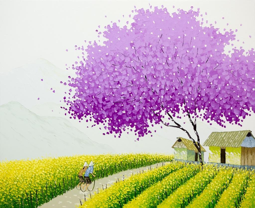 Яркие пейзажи Вьетнама на картинах Phan Thu Trang3
