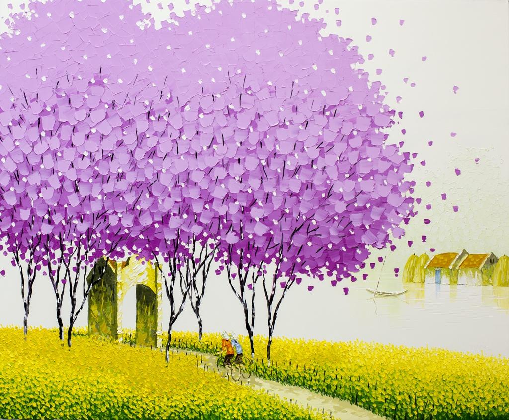 Яркие пейзажи Вьетнама на картинах Phan Thu Trang4