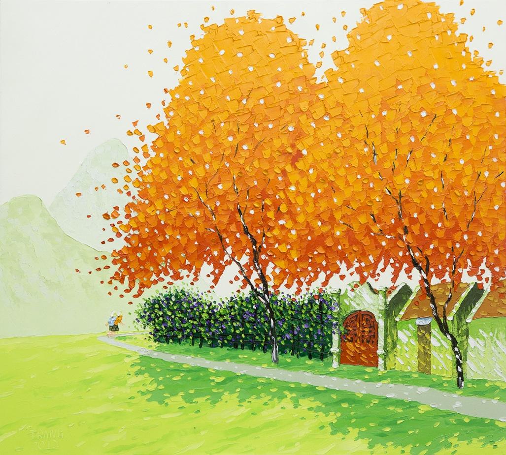 Яркие пейзажи Вьетнама на картинах Phan Thu Trang5
